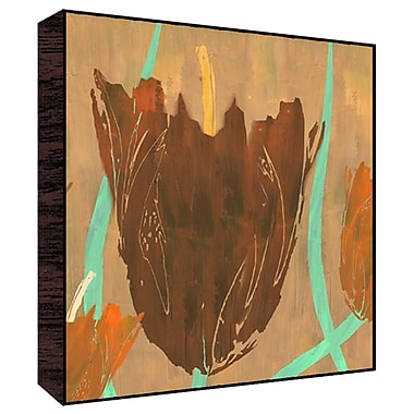 Green Leaf Art Orange Flowers II Painting Print; 24'' H x 24'' W x 1.5'' D