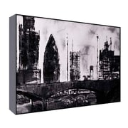 Green Leaf Art Industrial Photographic Print on Wrapped Canvas