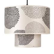 Lights Up! Deco 1 Light Drum Pendant; Natural Linen