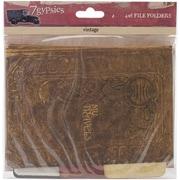 "7 Gypsies 7G18020 Serengeti Vintage Folders 4"" x 6"", Printed On Both Sides"