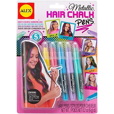Alex Toys A238-M Assorted Metallic Hair Chalk Pens