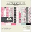 """Authentique Paper CLA216 Classique Pretty Bundle Cardstock Pad, 6"""" x 6"""""""
