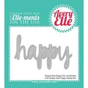 Avery® Elle-Ments Steel Die, Simply Said Happy