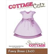 """CottageCutz® 3"""" x 3"""" Steel Die, Fancy Dress"""