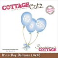 CottageCutz® 4in. x 4in. Steel Die, It's A Boy Balloons