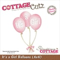 CottageCutz® 4in. x 4in. Steel Die, It's A Girl Balloons