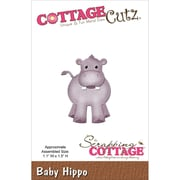 """CottageCutz® 1.1"""" x 1.5"""" Steel Die, Baby Hippo"""