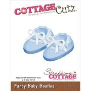 "CottageCutz® 2.3"" x 1.6"" Steel Die, Fancy Baby Booties"