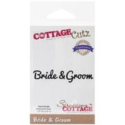 "CottageCutz® Expressions 1.5"" x 0.6"" Steel Die, Bride & Groom"