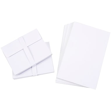 Darice 110369 White Blank Cards and Envelopes, 5.5