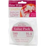Darice BOW3060 Bowdabra Silver Bow Wire, 100 yd.