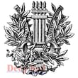 Deep Red Stamps 3in. x 3 1/4in. Cling Stamp, Ancient Laurel