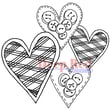 Deep Red Stamps 3 1/4in. x 3 1/4in. Cling Stamp, Love Buttons