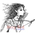 Deep Red Stamps 3in. x 2 1/2in. Cling Stamp, Elf Warrior Princess