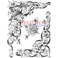 Deep Red Stamps 4in. x 5 1/4in. Cling Stamp, Wrought Iron Corners