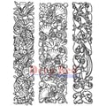 Deep Red Stamps 4in. x 5 1/4in. Cling Stamp, Ornamental Vines