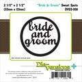 Die-Versions® Whispers 2 1/2in. x 2 1/2in. Spots Die, Bride & Groom