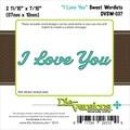 Die-Versions® 2.687in. x .437in. Sweet Wordlets Die, I Love You