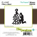 Die-Versions® Whispers 3in. x 3 3/8in. Die, The Proposal