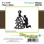 """Die-Versions® Whispers 3"""" x 3 3/8"""" Die, The Proposal"""
