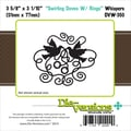 Die-Versions® Whispers 3.625in. x 3.062in. Die, Swirling Doves With Rings