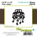 Die-Versions® Whispers 2.812in. x 3.5in. Die, Just Married Car