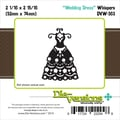 Die-Versions® Whispers 2.0625in. x 2.937in. Die, Wedding Dress