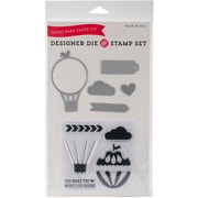 Echo Park Paper Die & Stamp Combo Set, Hot Air Balloon