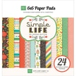Echo Park Paper 6in. x 6in. Paper Pad, Simple Life
