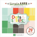 Echo Park Paper 6in. x 6in. Dots & Stripes Paper Pad, Dots & Stripes
