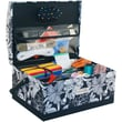 Everything Mary® 9in. x 12in. x 7in. Dome Rectangle Sewing Box, Black/White