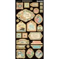 Graphic 45 Come Away With Me Chipboard Die Cuts, Decorative