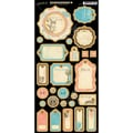 Graphic 45 7 1/4in. x 12 1/2in. Come Away With Me Chipboard Die Cuts, Journaling