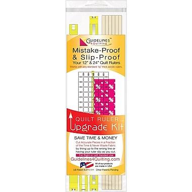 Guidelines4quilting QR-UPKT Multicolor Quilt Ruler, 13.25
