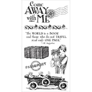 "Hampton Art Graphic 45 8"" x 4"" Cling Stamps, Come Away With Me #1"