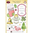 """Justrite® Papercraft 6"""" x 8"""" Clear Stamp Set, Christmas Stitched With Love"""