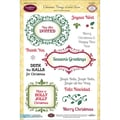 Justrite® Papercraft 6in. x 8in. Clear Stamp Set, Christmas Vintage Labels Seven