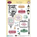 Justrite® Papercraft 6in. x 8in. Clear Stamp Set, Signs Of Christmas