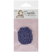 "Magnolia 5 1/2"" x 2 1/2"" A Little Yummy For Your Tummy Cling Stamp, Tea Label"
