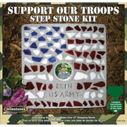 Midwest Products Mosaic Mosaic Stepping Stone Kit, Support Our Troops