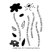 My Sentiments Exactly 3 x 4 Clear Stamp, Sentiment Stems
