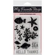"My Favorite Things 4"" x 6"" Lisa Johnson Designs Clear Stamp Set, Sea Life"