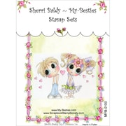 My-Besties 4 x 6 Clear Stamp, Hearts A Flutter