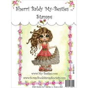 """My-Besties 4"""" x 6"""" Clear Stamp, Rose A Bell"""