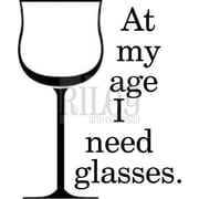 Riley & Company 1 1/2 x 2 Funny Bones Cling Mounted Stamp, Glasses At My Age