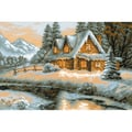 Riolis® 15in. x 10 1/4in. Counted Cross Stitch Kit, Winter View