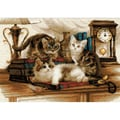 Riolis® 15 3/4in. x 11 3/4in. Counted Cross Stitch Kit, Furry Friends