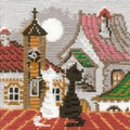 Riolis® 5in. x 5in. Counted Cross Stitch Kit, City & Cats Spring