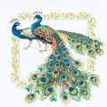 Riolis® 18 7/8in. x 18 7/8in. Counted Cross Stitch Kit, Peacocks