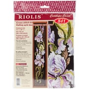 "Riolis® 7 3/4"" x 36 1/4"" Counted Cross Stitch Kit, Irises"